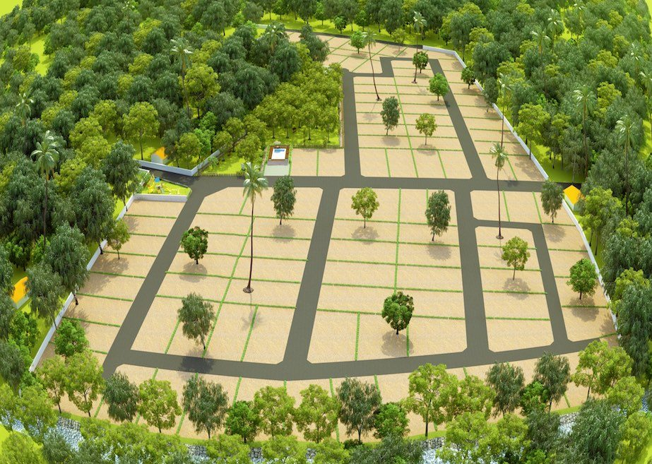 Negombo project land 3D view