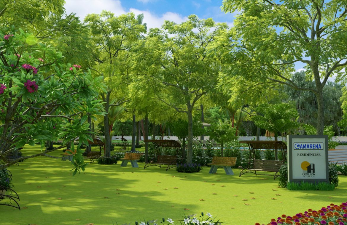 Negombo project 3D view of Garden