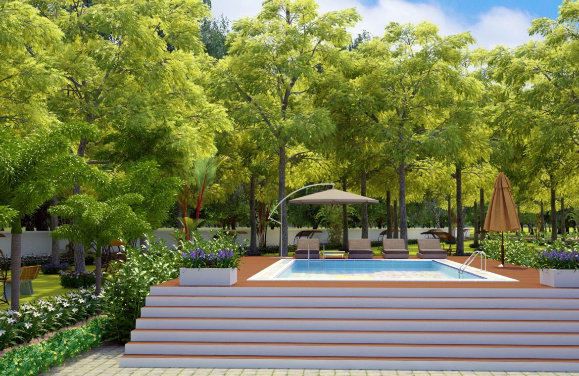 Negombo project 3D view of pool